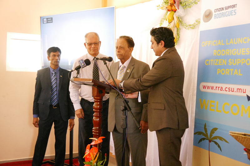 Launch of Rodrigues Citizen Support Portal